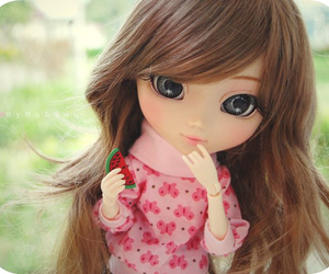 doll, eyes, and girl image