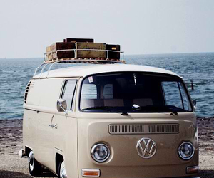 car, vintage, and beach image