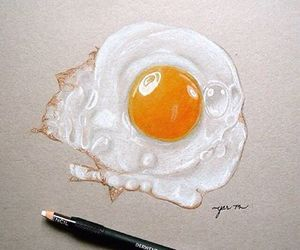 art, drawing, and egg image
