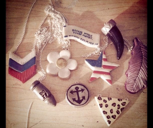 american flag, jewelry, and bullets image