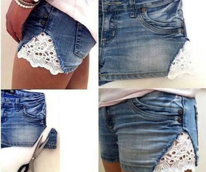 diy, shorts, and jeans image