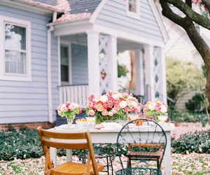 big, flowers, and house image