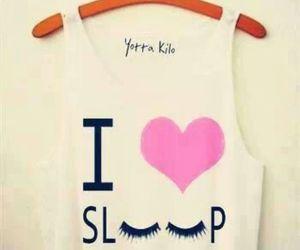 sleep, shirt, and heart image