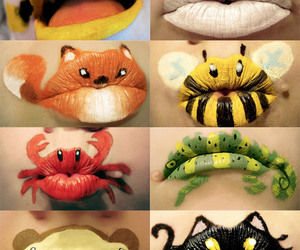 lips, animal, and cat image