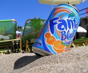 fanta, summer, and blue image
