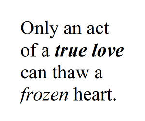 frozen and text image