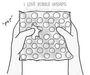 bubbles, bubble wraps, and pop image