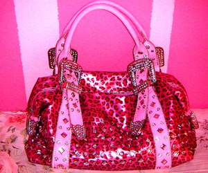 pink, purse, and bag image