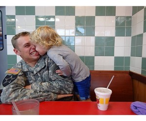 family, parenting, and soldier image