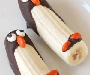 banana, food, and penguin image