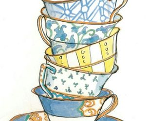 cup, drawing, and illustration image