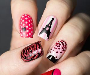 art, eiffel, and nails art image