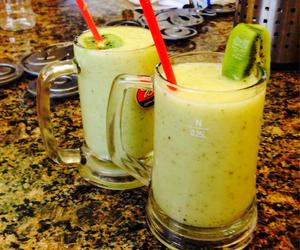 delicious, juice, and kiwi image
