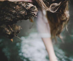 girl, hair, and water image