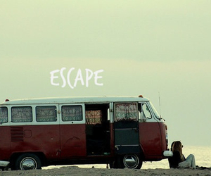 escape, freedom, and van image