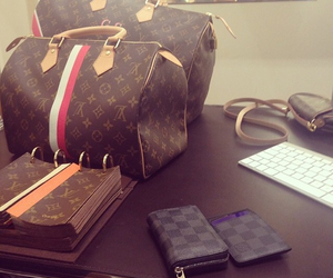 bag, beauty, and Louis Vuitton image