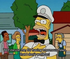 the simpsons, flaws, and funny image