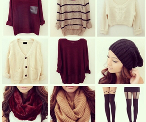 leggings, scarfs, and outfit image