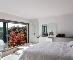 glass wall, architecture., and contemporary home design image