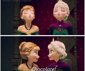 frozen, chocolate, and elsa image