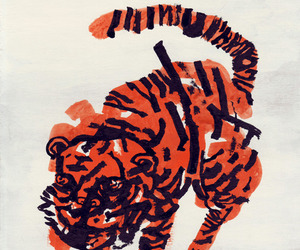tiger, drawing, and illustration image