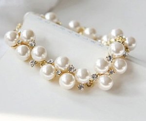 pearls, bracelet, and jewelry image