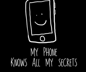 secret, phone, and quote image