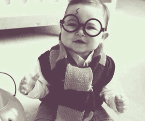 harry potter, baby, and glasses image