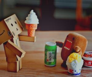domo, danbo, and ice cream image