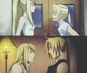 anime, edward elric, and winry rockbell image