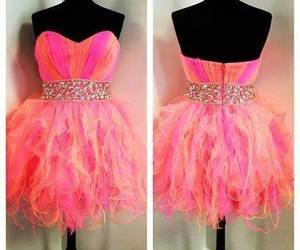 dress, pink, and orange image