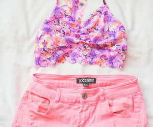 pink, shorts, and summer image