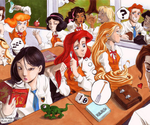 disney, princess, and school image