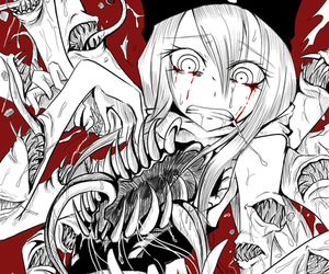 blood, girl, and mouths image