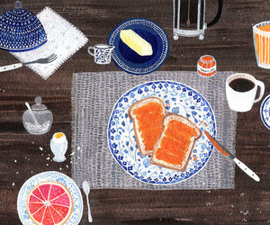 art, breakfast, and painting image