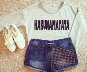 fashion, outfit, and hakunamatata image