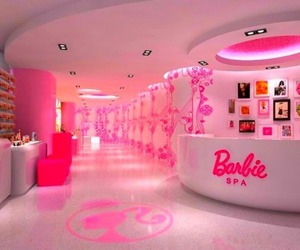 barbie, pink, and spa image