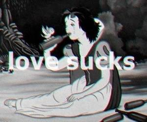 love, sucks, and snow white image