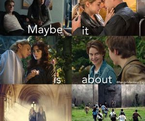 vampire academy, divergent, and the fault in our stars image