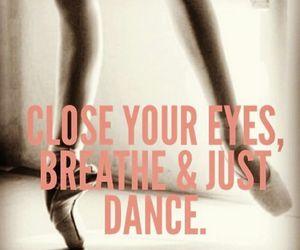 dance, breathe, and ballerina image