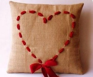 pillow and heart image