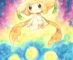 pokemon, stars, and jirachi image