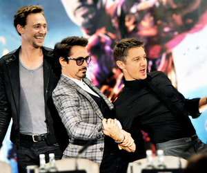 jeremy renner, tom hiddleston, and robert downey jr image