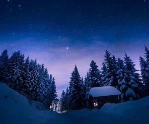 beautiful, snow, and stars image