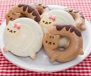 cat, donuts, and food image