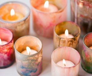 candle, light, and pink image