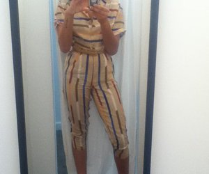 ipod, jumpsuit, and stripes image