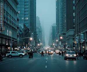 city, car, and people image
