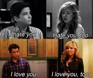 love, icarly, and hate image