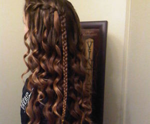 hair, braid, and pretty image